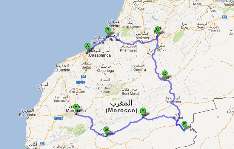 Days Trip from CASABLANCA