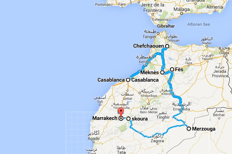 Marrakech to Tangier 10 days
