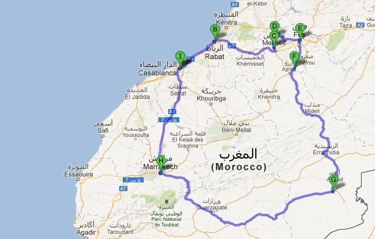 migliore del Marocco Tour itinerario